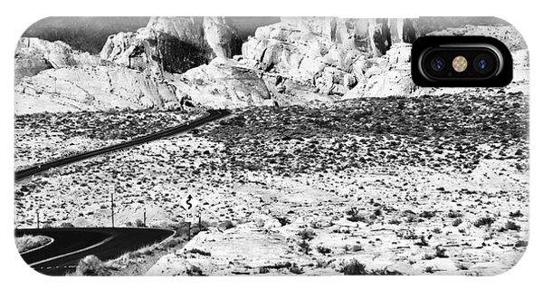 Winding In The Desert Phone Case by John Rizzuto