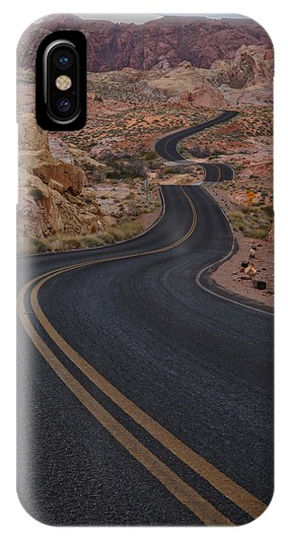 Valley Of Fire iPhone Case - Winding Road by Rick Berk