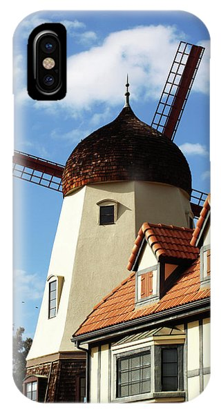 Windmill At Solvang, California IPhone Case