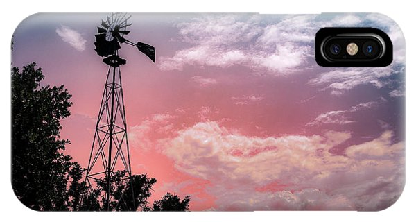 Windmill At Sunset IPhone Case