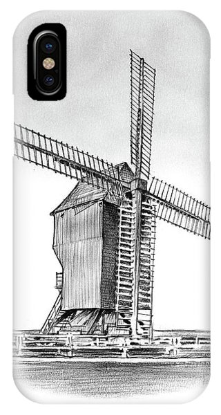 Windmill iPhone Case - Windmill At Valmy by Greg Joens