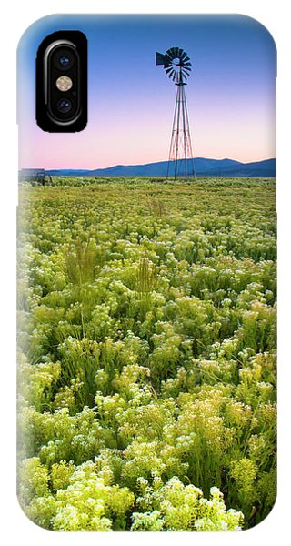 Middle Of Nowhere iPhone Case - Windmill by Christopher Johnson