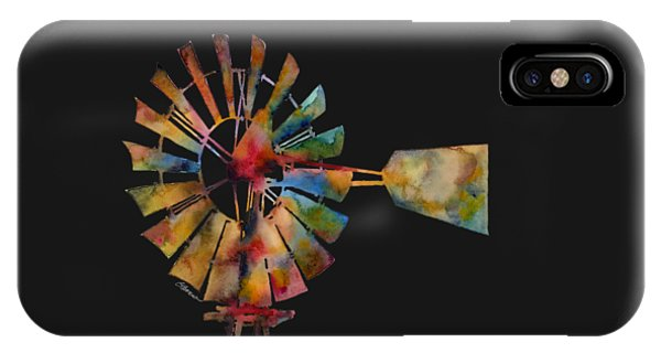 Rural iPhone Case - Windmill by Hailey E Herrera