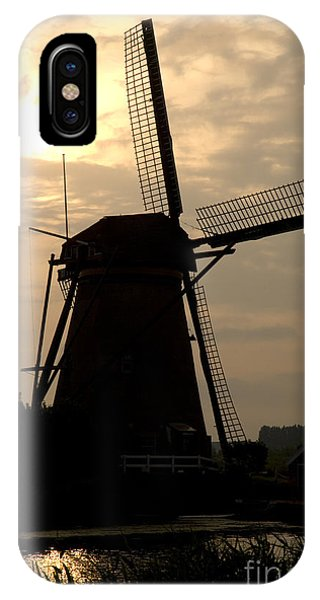 Windmill In Silhouette Phone Case by Andy Smy