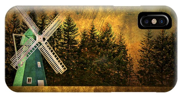 Windmill iPhone Case - Windmill On My Mind by Evelina Kremsdorf