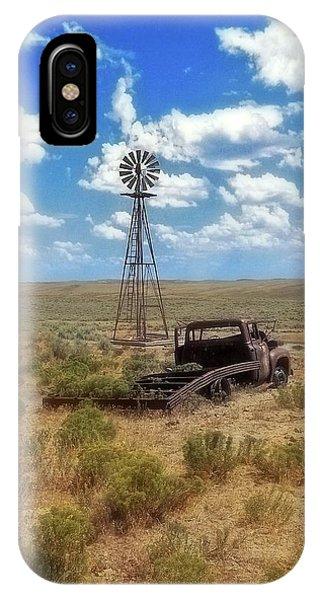 Windmill Over Lenzen IPhone Case