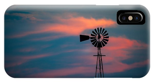 Windmill Sunset IPhone Case