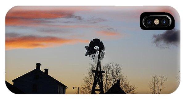 Windmill Sunset IPhone Case