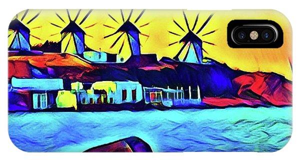 Windmills At Mykonos IPhone Case