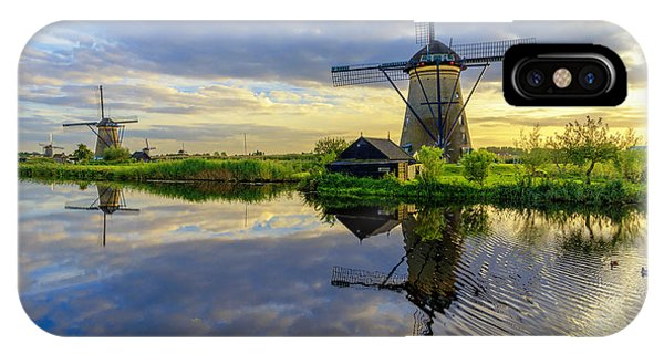 Pond iPhone Case - Windmills by Chad Dutson