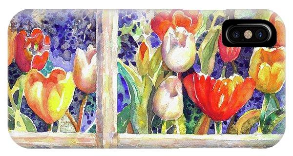 Window Box Tulips IPhone Case
