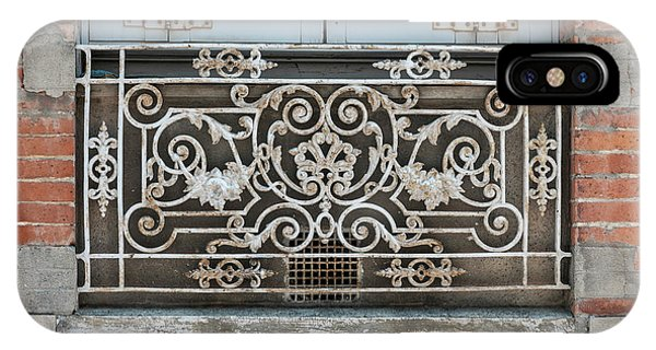Ironwork iPhone Case - Window In Toulouse by Elena Elisseeva