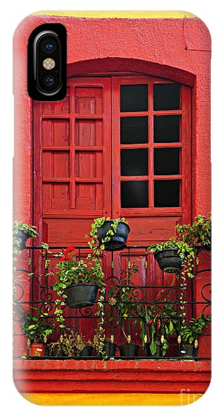 Window Pane iPhone Case - Window On Mexican House by Elena Elisseeva