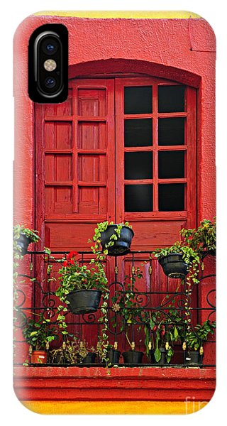 House iPhone Case - Window On Mexican House by Elena Elisseeva