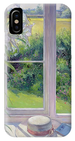 Window Pane iPhone Case - Window Seat And Lily by Timothy Easton