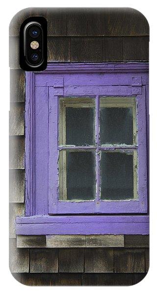 Purple Window - Window Series 04 IPhone Case