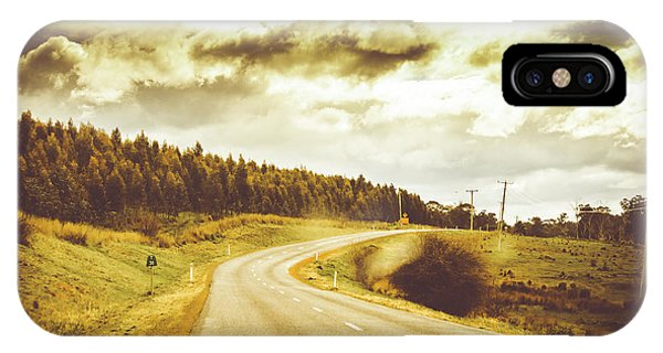 Inside iPhone Case - Window To A Rural Road by Jorgo Photography - Wall Art Gallery