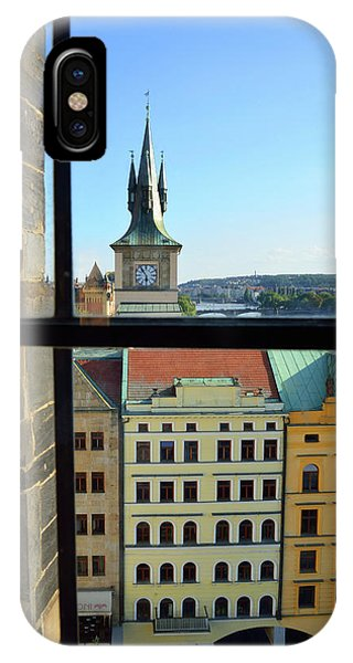 iPhone Case - Window View Of Prague by Kathy Yates