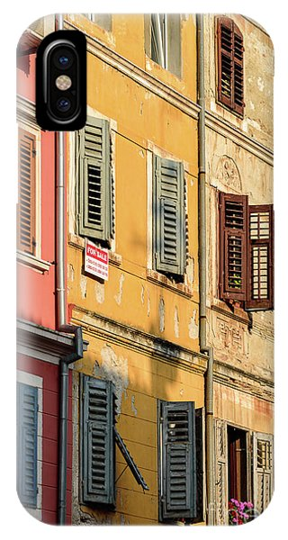 Windows Of Rovinj, Istria, Croatia IPhone Case