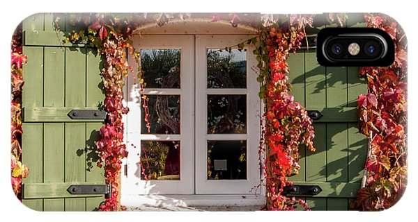 iPhone Case - Window,shutters,and Fall Colors by Bill Gallagher