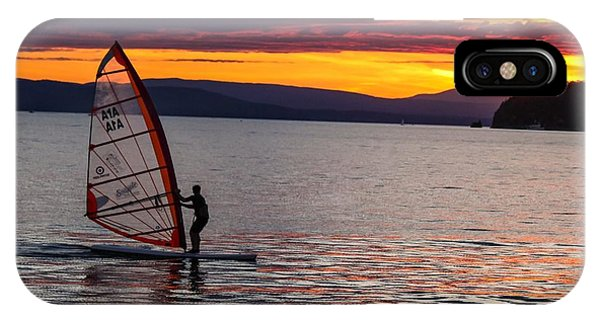 Windsurfing Lake Champlain IPhone Case