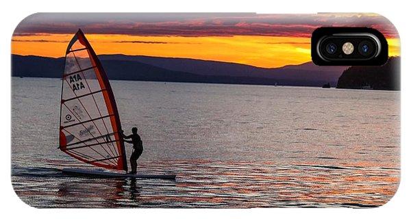 Windsurfing Lake Champlain IPhone Case