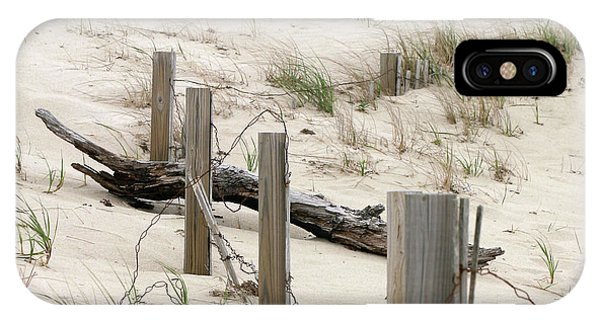 Windswept Beach Fence Cape Cod Massachusetts IPhone Case