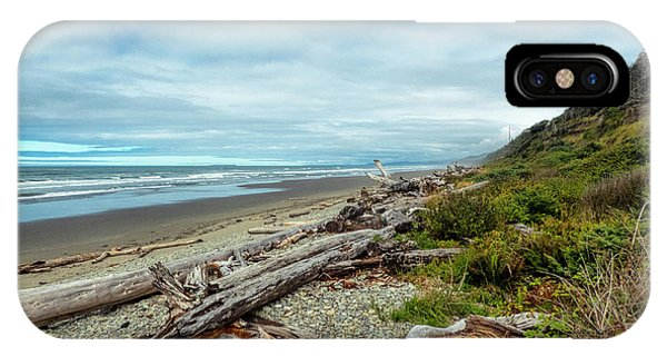 IPhone Case featuring the photograph Windy Beach In Oregon by Michael Hope