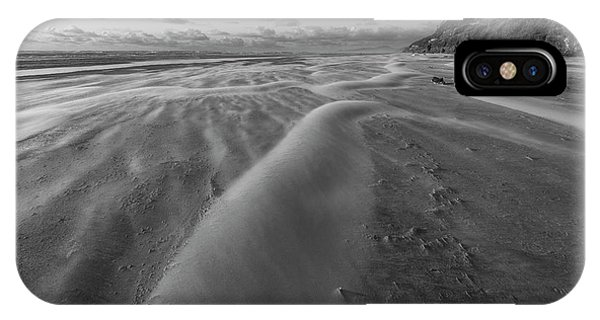 Oregon Sand Dunes iPhone Case - Windy Day by Masako Metz
