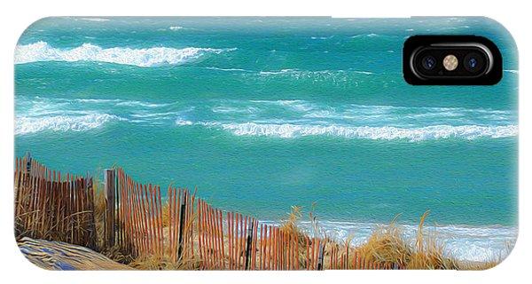 Windy Day On Lake Michigan IPhone Case