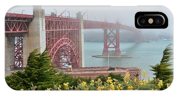 Windy Foggy Golden Gate Bridge  IPhone Case