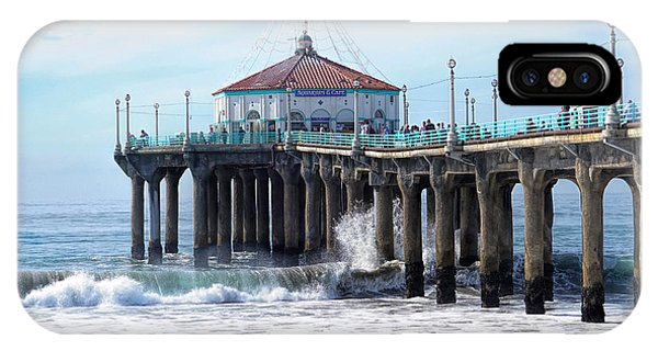 IPhone Case featuring the photograph Windy Manhattan Pier by Michael Hope