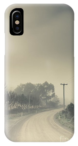 Cold Day iPhone Case - Windy Paths To Destinations Unknown by Jorgo Photography - Wall Art Gallery