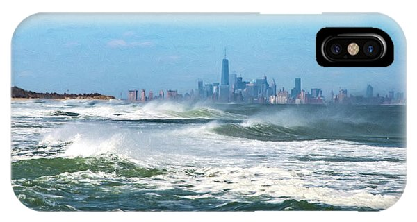 Windy View Of Nyc From Sandy Hook Nj IPhone Case