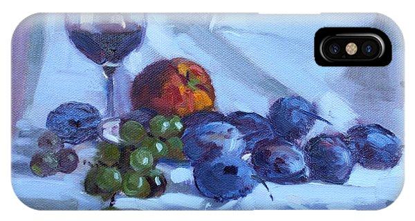 Fresh iPhone Case - Wine And Fresh Fruits by Ylli Haruni