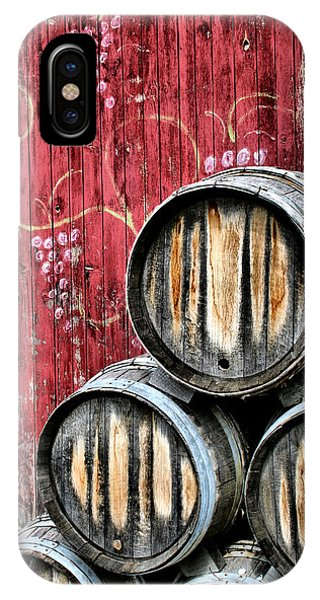 Barn iPhone Case - Wine Barrels by Doug Hockman Photography