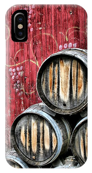 Old Barn iPhone Case - Wine Barrels by Doug Hockman Photography