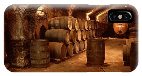 Wine Barrels In A Cellar, Buena Vista IPhone Case