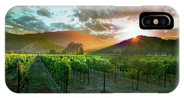 Spring Mountains iPhone Case - Wine Country by Jon Neidert