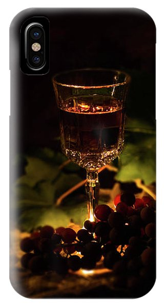 Wine Glass And Grapes IPhone Case