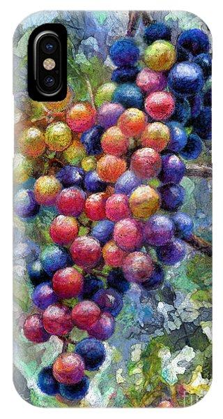 Grape iPhone X Case - Wine Grapes by Hailey E Herrera