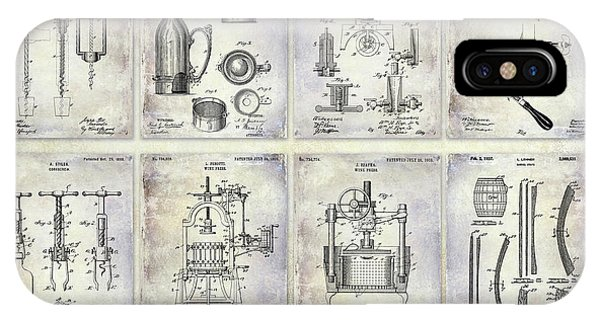 Wine History Patents IPhone Case
