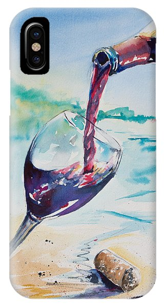 Wine On The Beach IPhone Case