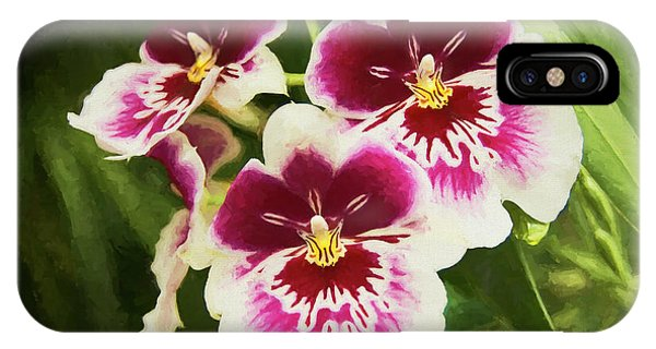 IPhone Case featuring the photograph Wine Orchids- The Risen Lord by Penny Lisowski