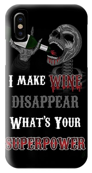 Wine Superpower Skeleton Fantasy Art IPhone Case