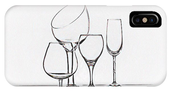Cocktail iPhone Case - Wineglass Graphic by Tom Mc Nemar