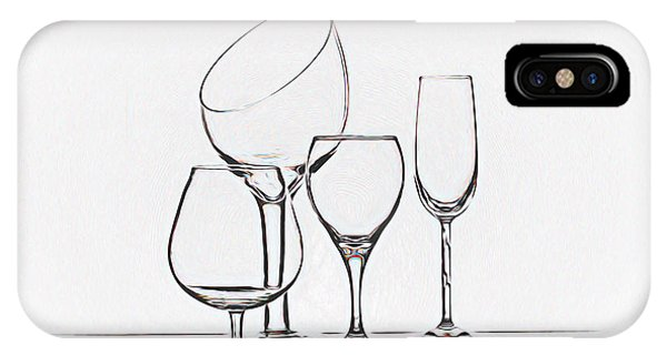Wineglass Graphic IPhone Case