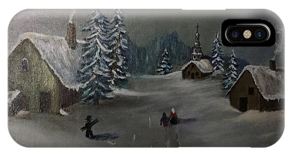 Winter In A German Village IPhone Case