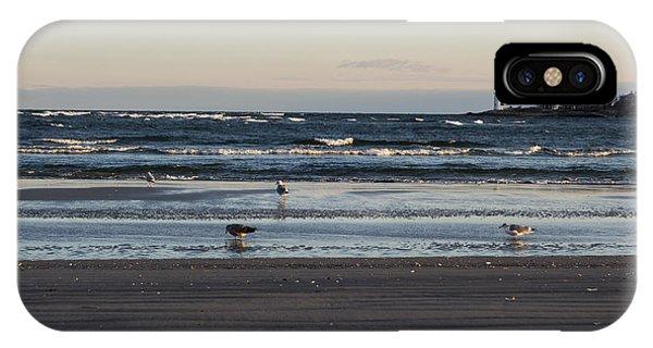 Wingaersheek Beach Seagulls At Sunrise IPhone Case