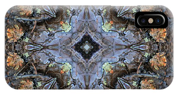 Winged Creatures In A Star Kaleidoscope #1 IPhone Case